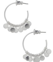 Small Fringe Hoops - Silver