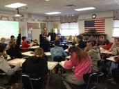 Socratic Seminar in Mrs. Sloan's class