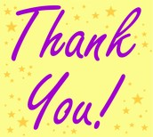 GRATEFUL SHOUT OUTS TO: