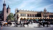Here is a picture of the Main Square Kraków in Poland.