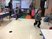 Miss Kara got us up and moving with a relay race!