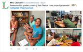 Mrs. Leonard's 6th Graders work on GH proposals