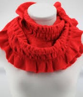 cherry colored scarf