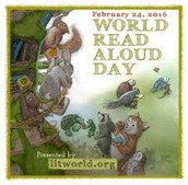 World Read Aloud Day is Wednesday, February 24th!