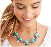 Rory necklace-Blue $25