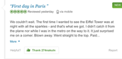 "Review for the Eiffel Tower ""First day in Paris"""