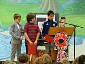 Our students read In Flander's Fields