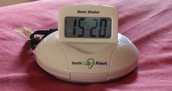 The Sonic Alert Alarm Clock.