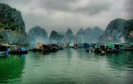 Fishing village in Ha Long Bay