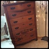 Ornate Oak Dresser with 6-Drawers ~ $425