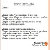 Exemplo de um texto literário