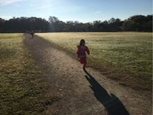 Ms. Davishines' Panthers run their Marathon Kids miles!