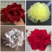 Bloemen maken van textiel