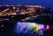 A gorgeous picture of Niagara Falls at night