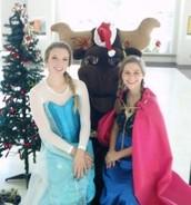 Santa Mav and Winter Princesses