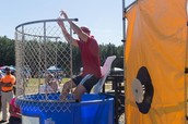 Mr. Chatham getting dunked!
