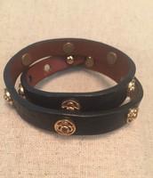 Clover Double Wrap Leather Bracelet 22.00