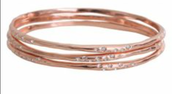 Rhea Rose Gold bangles (set of 3)