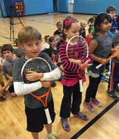 We are so happy to have our tennis racquets!