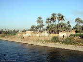 The Nile River And Land...