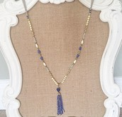 Azure Tassel Necklace - $38