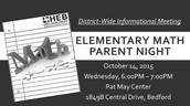 Math Parent Night