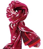 Palm Springs Scarf - Red Ikat