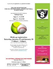 Softball and Flag Football Registration is OPEN!