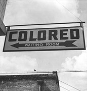 Waiting rooms & many other public  places were segregated