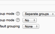 Make sure separate groups is selected under groups