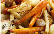 Roasted Root Vegetables with Coconut Oil and Rosemary