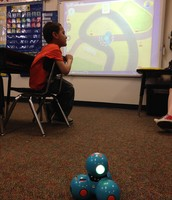 We learned the basics of computer coding with Dash the Robot.