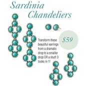 Sardinia Chandeliers (comes in Red or Turquoise) - $59