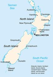 Geografische gegevens Nieuw Zeeland