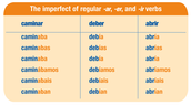 Imperfect tense regular verbs