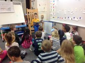 Thank you to a past student who came to read to us.