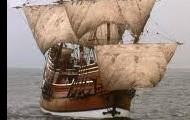 Pilgrims on the boat