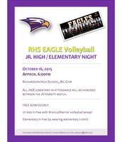 RHS Volleyball Elementary Night