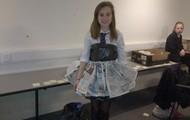 News Paper Bin Bag Dress