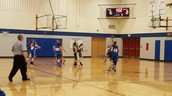 7th grade girls' basketball action