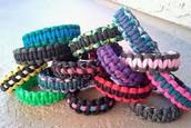 He likes to make para cord bracelets.