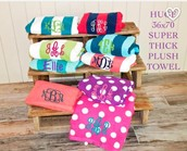 Monogrammed beach towel by the fab Meredith Young!!!