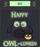 Glowing Owl Icon