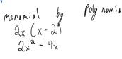 Monomial by Binomial