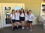 Girls' golf District Runner-Up!