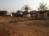 Near the craftsmen's hut