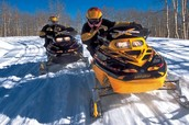 Snowmobiling is chill!