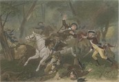 You can see the muskets being used in the battle