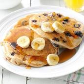 1.banana blueberry pancakes