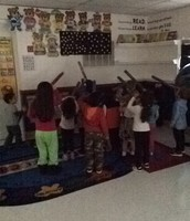 Using our homemade telescopes to find constellations